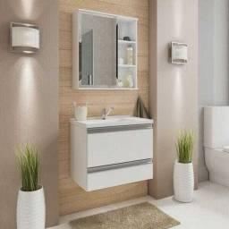 Gabinete novo para banheiro com espelheira