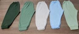Kit 5 calças malha bebê