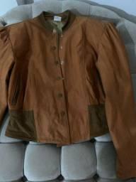 Jaqueta de couro linda m manga princesa