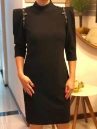 Vestido midi preto festa