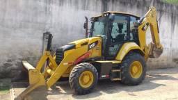 Retro escavadeira Cat 416F 4x4 2019