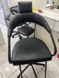 Lavatório e cadeira para cabeleira