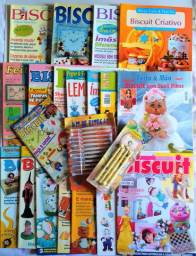 Vendo coleção de revistas diversas com técnicas em Biscuit (Porcelana fria)