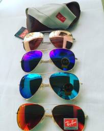 Oculos espelhado modelo aviador Ray Ban varias cores