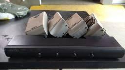 Seletor/distribuidor de áudio JAMO de até 4 canais mais 4 caixas Philips