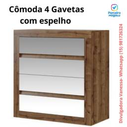 Cômoda 4 Gavetas Móveis Carraro Painéis - 838<br><br>