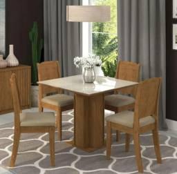 Vendo mesa de vidro OFF WHITE 4 Cadeiras