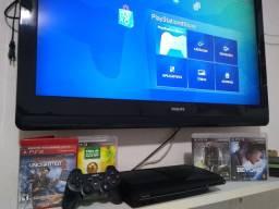 Playstation 3 super slim (aceito cartão parcelo consulte)