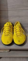 Chuteira Futsal Nike Mercurial Vapor 12 Club Neymar IC - Amarelo e Preto