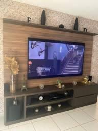 Painel em MDF com Rack TV