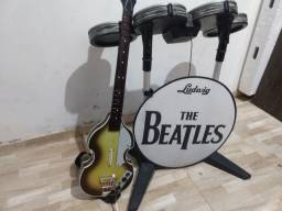Bateria , Guitarra e Jogos Rock Band Xbox 360 ( Série Beatles)