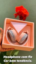 Headphone com fio super lindo