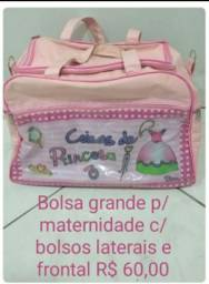 Bolsa saída maternidade rosa