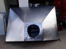 Coifa de Inox 2.00x1.50 Sem Motor e Sem Dutos