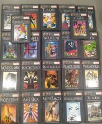 Enorme coleção de encadernados Marvel e DC Gibis