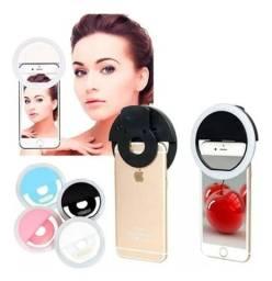 Selfie Ring Light Clipe Anel Led Celular Universal<br><br>
