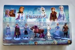 Kit Cartelado Frozen Anna Elza Olaf com 6 bonecas