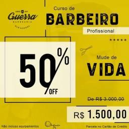 Curso de Barbeiro Profissional - Promoção
