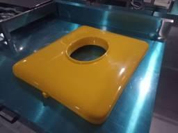' Tampa grande do carrinho C-403 amarelo, marca cem. Keila 91.98886.4555