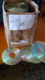 Lote com 200 cd para artesanato