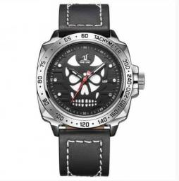 Relógio Masculino Weide Analógico - Preto, Prata e Branco