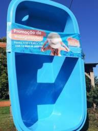 Promoção de Piscina 4,00×2,40×1,40 com 15 anos de garantia
