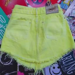 Saia jeans neon
