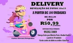 Revelação de fotos 10x15 R$0,99 a unidade