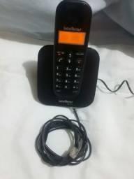 Telefone sem fio display luminoso