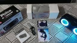 Caixinha de Som Portátil Nova Penha-SC com Led e Bluetooth