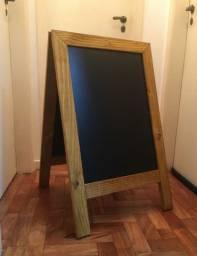 Quadro Negro Cavalete De Calçada Madeira 90 X 60 Cm Dupla Face
