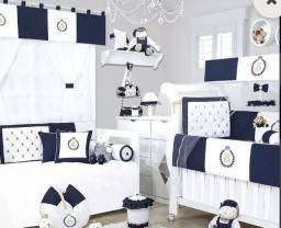 Kit berço, cama babá e cortina