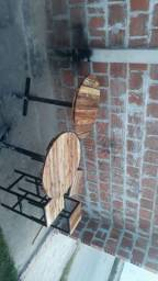 Messas e banquetas rústico ferro e madeira
