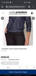 Jaqueta jeans bomber