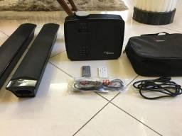 Kit projetor Optoma + kit som