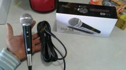 Microfone SM 58 Profissional Com Cabo