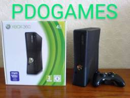 PDOGAMES Bauru, Xbox 360 Slim com garantia, até 12x no cartão