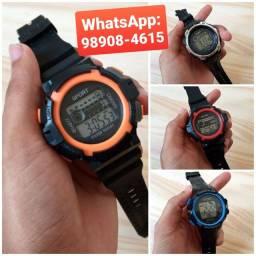 Relógio Masculino Esporte Digital Hora Data Alarme Cronômetro