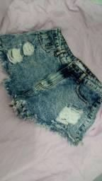 Título do anúncio: Short Jeans Cintura Alta Destroyed