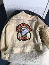 Jaqueta motoqueiro lona
