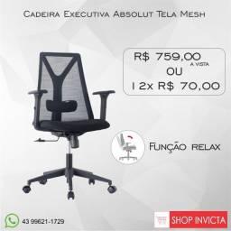 Cadeira Executiva Moderna Absolut Tela Mesh Base
