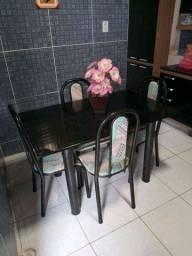 Mesa 4 cadeiras granito 1,20cm