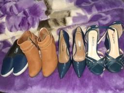 Lote sapatos e bota n?37