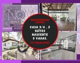 Belíssima casa 5/4 - 350m² - PIATÃ.