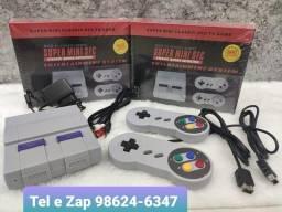 Vídeo Game Super Mini Sfc Retrô Bivolt Tv Usb Com 2 Controle e 660 jogos