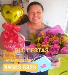 A melhor combinação RLC cesta e flores buquê Manaus