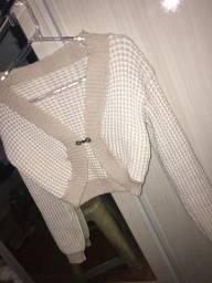 Casaco estilo bolero outono/inverno feito a mão pronto para ser usado
