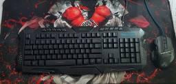 Kit gamer/ mouse,teclado e mouse pad