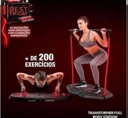 Transformer Full Body Station + de 200 exercicios academia de musculação em casa.