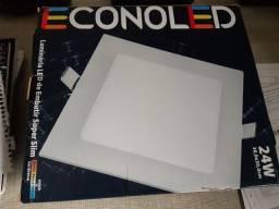 Luminária  led embutir quadrada 30x30